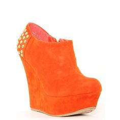Faux Suede #Studded Back #Wedge