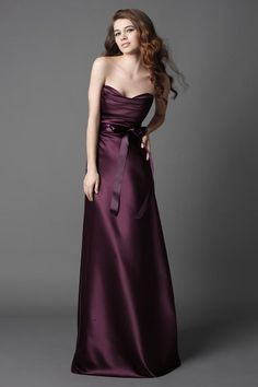 dark plum bridesmaid dresses strapless