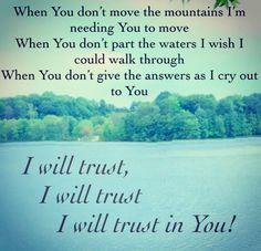 Trust In You Lyrics Lauren Daigle ~ <3 this song
