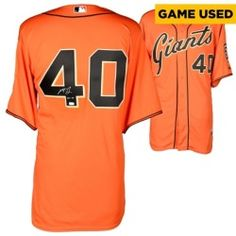 Madison Bumgarner San Francisco Giants Fanatics Authentic Autographed Orange Game Used Jersey with GU 14 Inscription