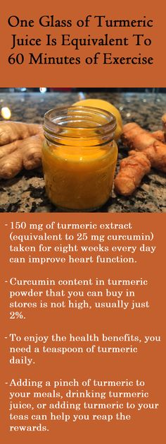 A pinch of turmeric and its effects to the cardiovascular system can be compared to an hour of brisk walking or jogging.