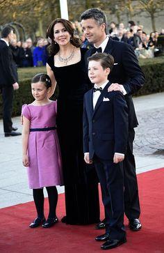 Danish Crown Prince Frederik, Crown Princess Mary, Prince Christian and Princess Isabella.