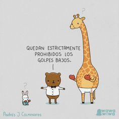 Prohibidos los golpes bajos. #humor #risa #graciosas #chistosas #divertidas