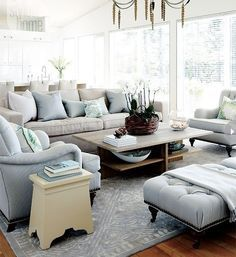 Would want a bit darker walls, but love the light blues and grays!