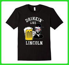 Mens Drinking Like Lincoln Patriotic T-Shirt Large Black - Holiday and seasonal shirts (*Amazon Partner-Link)