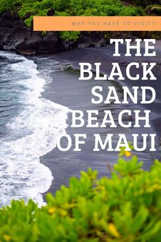 Maui Must Do - Visit The Beautiful Black Sand Beach of Maui! The black sand beaches in Maui are truly an unbelievable sight to see! If you are looking for something unique to add to your itinerary, check this out! Maui Travel, Hawaii Vacation, Dream Vacations, Travel Usa, Maui Honeymoon, Hawaii Resorts, Tropical Vacations, Tropical Beaches, Cruise Travel