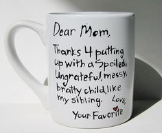 Thanks for putting up with a spoiled...Funny by Meanmuggin39cups, $19.95