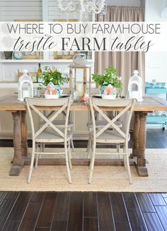 Farmhouse Dining Room Table, Farmhouse Style Table, Country Kitchen Farmhouse, Dining Table Design, Cottage Farmhouse, Farmhouse Kitchens, Farmhouse Decor, Farmhouse Furniture, Farmhouse Ideas