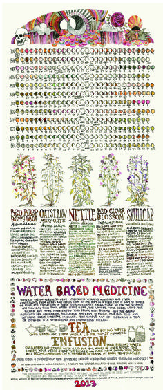 cute 2013 lunar calendar for tracking menstruation/ovulation (or to use as a supplement to a biological calendar) + some PMS herbal remedies
