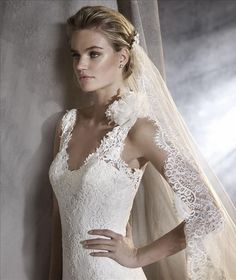 Pronovias Oriana full lace fit and flare gown. Please call either store for  pricing and be0043b577