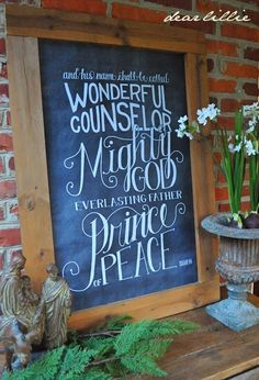 """The Porch . . . """"...and His name shall be called Wonderful Counselor, Mighty God, Everlasting Father, Prince of Peace.  Isaiah 9:6"""" . . . Stop 12 - Dear Lillie"""