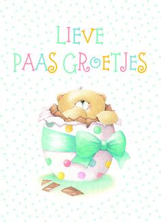 Kaarten - pasen   Hallmark Birthday Wishes, Birthday Cards, Happy Birthday, Tatty Teddy, Teddy Bear, Fizzy Moon, Moon Bear, Baby Painting, Easter Pictures