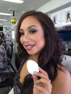 Added By beautyblender. Dancer Cheryl Burke from Dancing With The Stars gets her makeup done with beautyblender for a perfect complexion! @BLOOM.COM