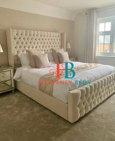 Berlin Wingback Storage Bed with High Footboard Part of the Luxury Range