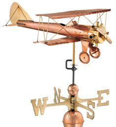 Polished #Biplane #Weathervane