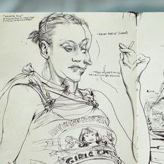 Maria, 2008. #sketchbook #moleskine James Jean http://www.jamesjean.com