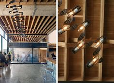 custom lighting at Sighthouse Coffee by Seth Boor from Boor Bridges Architecture