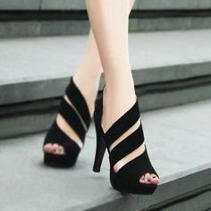 Zapatos Sandalias Tacones Tacón stilettos Ante