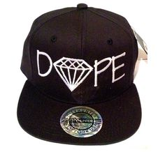DOPE DIAMOND EDITION Snapback Hat Cap Snap Back New Swag Asap Comme Des Fuckdown