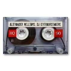 DJ Extraordinaire Cassette Tape Business Card Templates #vintage #classic #retro #classy #elegant #stylish #business #card #template #businesscards #profile #office #popular #unique