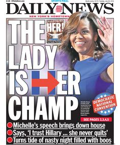 Michelle adores Hillary