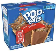 Frosted Coca-Cola Gross Food, Weird Food, Fake Food, Pop Tart Flavors, Oreo Flavors, Funny Food Memes, Food Humor, Tart Collections, Hot Pockets