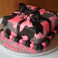 Pink Camo Cake Pink Camo Cakes, Cake Pink, Camo Birthday Cakes, Birthday Cakes For Teens, Birthday Ideas, 20th Birthday, Teen Cakes, Girl Cakes, Fancy Cakes