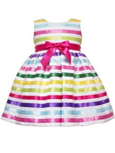 $46.88-$62.00 Baby Rare Editions Baby-Girls Infant Shantung Dress, Ivory/Stripes, 24 Months - Ivory shantung with multi ribbon stripes and panty http://www.amazon.com/dp/B0069RSSYI/?tag=pin2baby-20