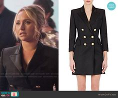 Juliette's double breasted blazer dress on Nashville.  Outfit Details: https://wornontv.net/57425/ #Nashville  Buy it at Barneys: http://wornon.tv/35899