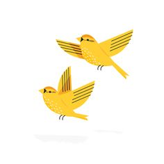 yellow birds illustrated by Sarah Abbott