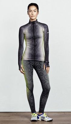 Nike Pro Printed Hyperwarm Tights and Top