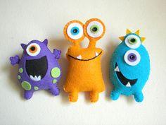 Plush toys Felt toys Monster Monster Friends by atelierbloom