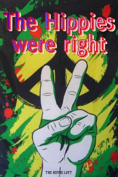 ☮ American Hippie Art ~ Peace Sign .. The Hippies Were Right