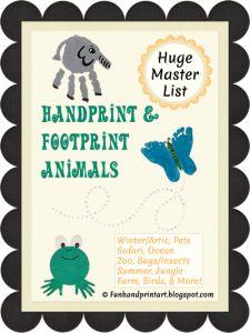 Handprint, Footprint, & Fingerprint Animal Crafts - Fun Handprint Art