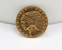 Estate Found 1909D United States $5 Indian Head Gold Coin Half Eagle