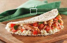 Receita fácil e barata de tapioca de chia com sardinha