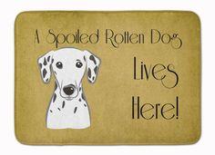 Dalmatian Spoiled Dog Lives Here Machine Washable Memory Foam Mat BB1458RUG