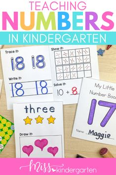 Teaching numbers in kindergarten has never been more fun! Use these fun poems and rhymes when your students are introducing how to teach number formation. Your kindergarten and first grade students will love learning the poems and practicing writing the numbers properly. You can grab the free download to send home with your students too. These activities will make learning numbers exciting and engaging. Fun Poems, Best Poems, Number Sense Activities, Hands On Activities, Grade 1, First Grade, Number Formation, Miss Kindergarten, Teaching Numbers