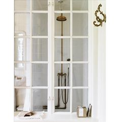 Nomadic Decorator | English/Victorian Exposed Shower Plumbing | http://nomadicdecorator.com