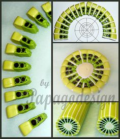 Kiwi cane tutorial by papagodesign, via Flickr