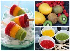 Helados de palito. Polos de fruta.