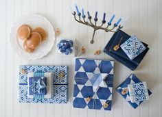 Wrap it up for Hanukkah — Wrappily. Cute Hanukkah gift wrapping ideas.