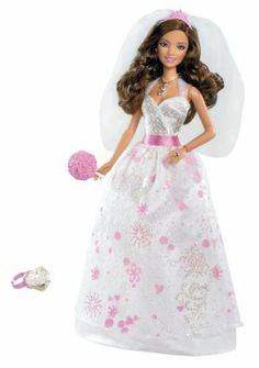 Barbie Bride Teresa Doll by Mattel. $21.72. Barbie is ready for her fairytale wedding. Comes with doll, wedding dress, ring, and flower bouquet.. Girls can play out Barbies wedding day dreams. Exquisite wedding dress has sparkles and pink accents. A ring for the girl adds to the role-play. From the Manufacturer                Barbie Bride Doll Collection: Discover Barbie Fairytale Magic with the Teresa Bride doll. Every princess dreams of the day she will marry her princ...