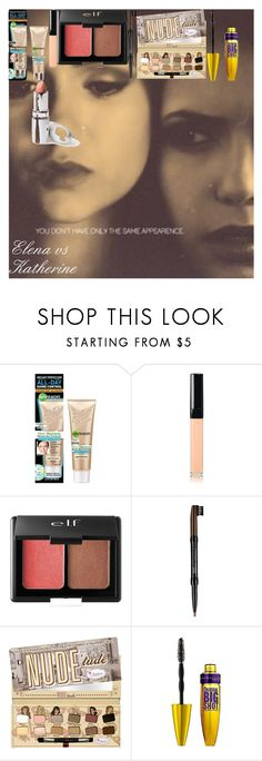 """""""Elena vs Katherine"""" by oroartye-1 on Polyvore featuring beauty, Chanel, e.l.f., NYX, Maybelline and TheBalm"""