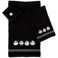 Jack Skellington towels to go with the curtain