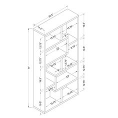Furniture of America Verena Contoured Leveled Display Cabinet