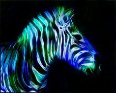 animal fractals | Fractal Zebra
