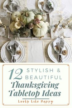 If you are hosting Thanksgiving this year, take your table up a notch with these beautiful Thanksgiving tablescapes! Making a Thanksgiving tablescape is easy with these ideas that are perfect for every decor style from farmhouse to bohemian. Click through
