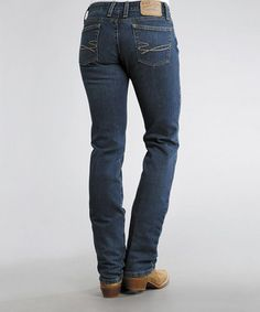 Loving this Stetson Blue 831 Fit Arrow Stretch Straight-Leg Jeans - Women on #zulily! #zulilyfinds