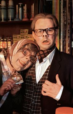 Steve Pemberton as Tubbs and Reece Shearsmith as Edward in 'The League of Gentlemen' (from our article on The Grotesque) British Tv Comedies, British Comedy, Royston Vasey, Steve Pemberton, Reece Shearsmith, Gentleman, League Of Gentlemen, Little Britain, British Humor